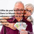Offre de prêt entre personnes sérieux : guy.jordan06@gmail.com/ lenders.edmond@hotmail.fr - image 1
