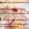 Prêt Entre Particuliers // jouve.sylviane@yahoo.fr