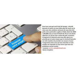 offre de prêt entre particulier en ligne au CANADA