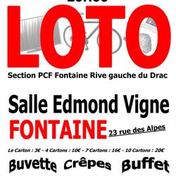Loto 14 décembre 2019 Salle Edmond Vigne Fontaine
