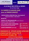 Evénements, sorties sur Gières : REPAS AFRICAIN ET CONCERT ATELIER DANSE AFRICAINE