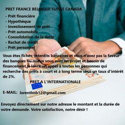 PRET FRANCE BELGIQUE SUISSE CANADA